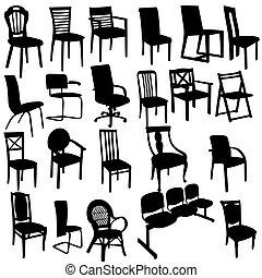扶手椅子, 黑色半面畫像, 集合