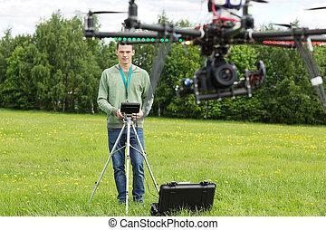 技師, 直升飛机, 飛行, uav