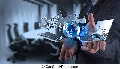 技術, 現代, 工作, 商人