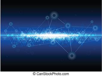 技術, 网絡, 背景, 數字