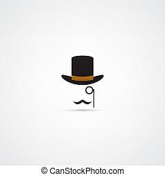 投球手帽子, 小胡子