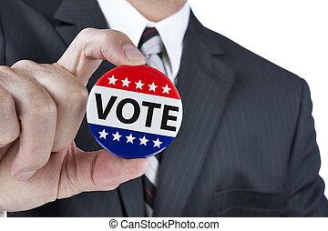 投票, 政治, 徽章