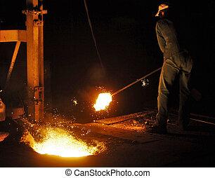 投, 工廠, 鐵