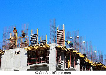 投, 建設, 地方, 混凝土