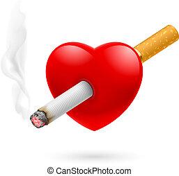 抽煙, 殺死, 心