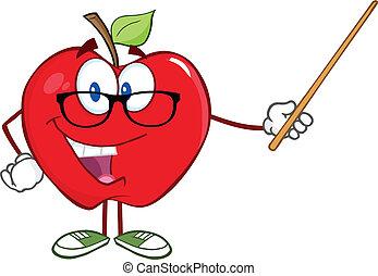 指針, 蘋果, 老師