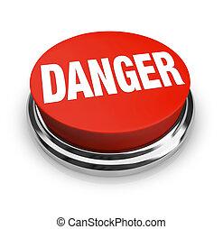 按鈕, -, 危險, 詞, 是, 輪, 小心, 紅色, 使用, 警報