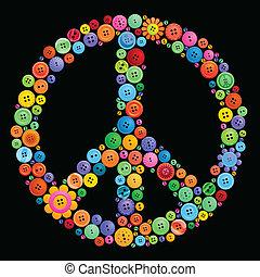 按鈕, 和平 簽署