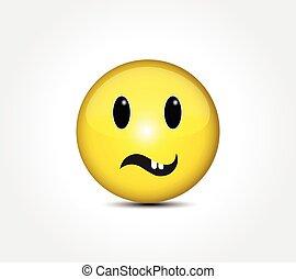按鈕, 微笑, emoticon, 臉, 愉快