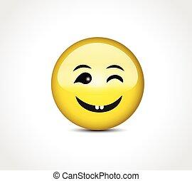 按鈕, 微笑, emoticon, 高興的表面