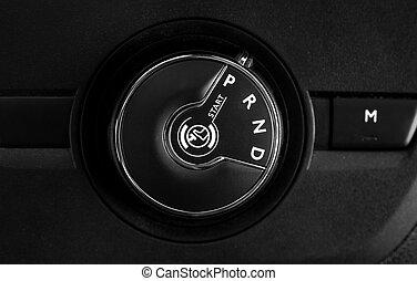 按鈕, 汽車, 變換, 傳輸, 領域, 自動, 深度, 淺