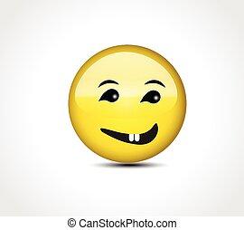 按鈕, 高興的表面, emoticon, 微笑
