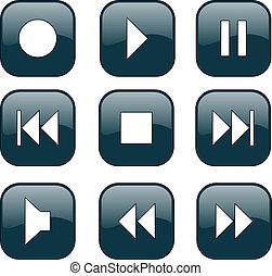 控制, 按鈕, audio-video