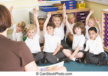 提高, 主要, 手, 他們, 學童, 類別