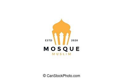插圖, 最簡單派藝術家, 圖象, 清真寺, 標識語, 矢量, 簡單