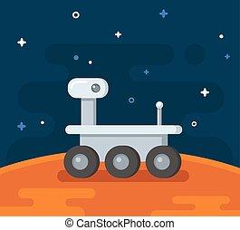 插圖, 火星, 勘探