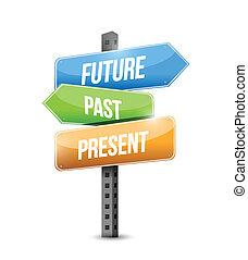 插圖, 簽署, 過去, 未來, 設計, 禮物