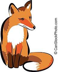 插圖, fox.
