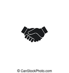 握手, 矢量, 簡單, 插圖, 標識語, 圖象