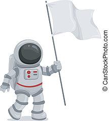 搖動旗, 宇航員