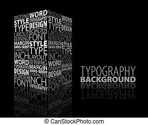 摘要設計, 印刷術, 背景