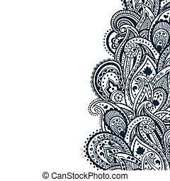 摘要, 佩斯利螺旋花紋呢, 背景