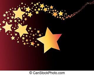 摘要, 彗星, 射擊, 光, 星