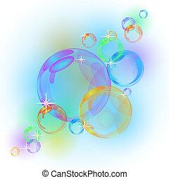 摘要, 矢量, 氣泡, 背景