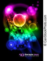 摘要, 矢量, 氣泡, design.