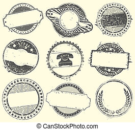 摘要, 矢量, 郵票, 集合