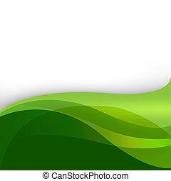 摘要, 綠色的背景, 自然