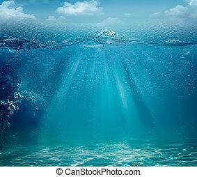 摘要, 背景, 海洋, 設計, 海, 你