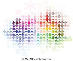 摘要, 花, 光譜, 背景