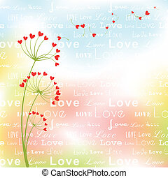 摘要, 花, 愛, 春天