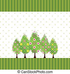 摘要, 花, 樹, 春天, 鮮艷