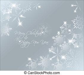 摘要, 藍色的背景, 聖誕節, 矢量, 光
