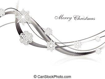 摘要, 金屬, 銀, 背景, 聖誕節