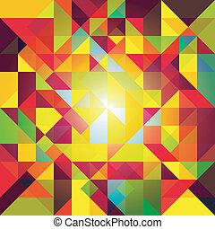 摘要, 鮮艷, 幾何學, 背景