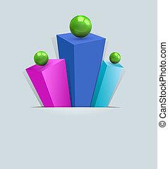 摘要, multi 著色背景, 棱鏡, 3d, gre