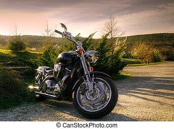 摩托車, 自然