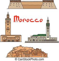 摩洛哥, 界標, 具有歷史意義, sightseeings