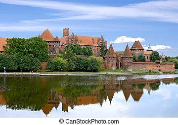 擦亮, 城堡, malbork., -