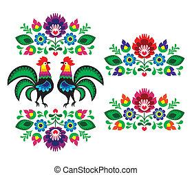 擦亮, 种族, 刺繡, 植物