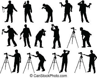 攝影師, 黑色半面畫像