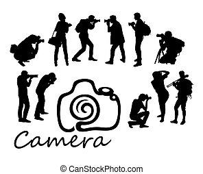 攝影師, 黑色半面畫像, 打獵, 活動