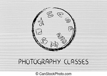 攝影, 照像機, 設計, 撥, 學校