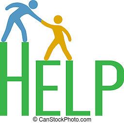 支持, 回答, 人們, 步驟, 向上, 發現, 幫助