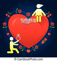故事, 愛, 符號, 人類, :, 結婚