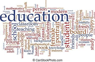 教育, 詞, 雲