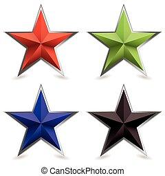 斜面, 形狀, 金屬, 星